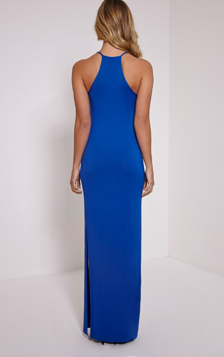 Basic Cobalt Square Neck Maxi Dress 2