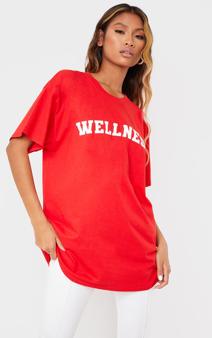 Red Wellness Printed T Shirt 1