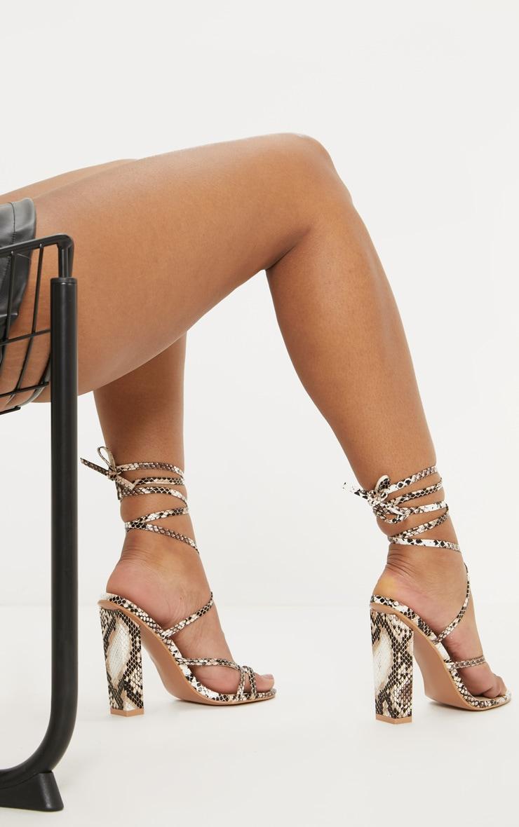 Snake Toe Loop Heeled Sandal 2