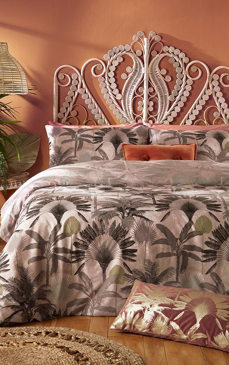 Multi Palm Leaf Print Double Duvet Set 1