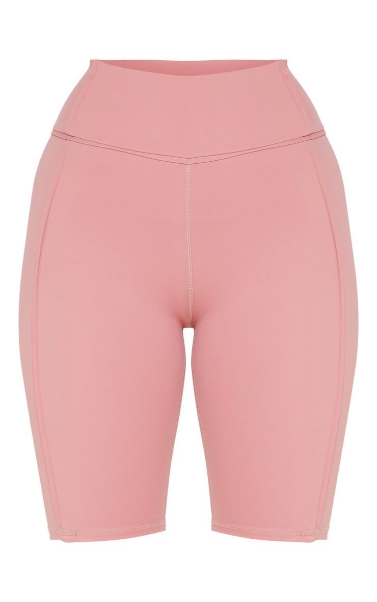 Dusty Pink High Waist Cycle Shorts 3