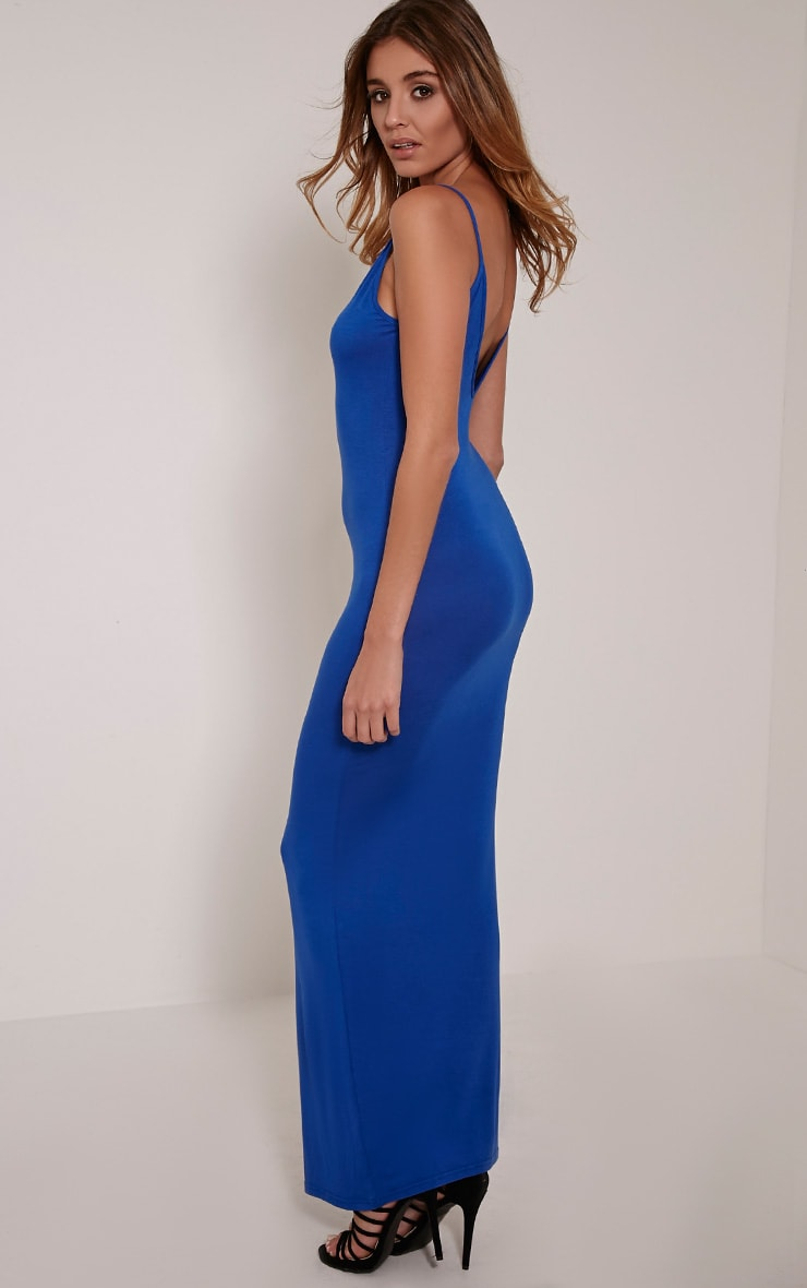 Basic Cobalt Scoop Back Maxi Dress 1