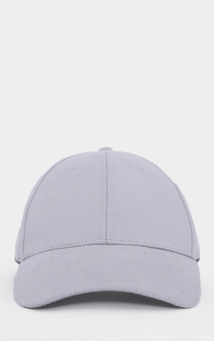 Light Grey Woven Baseball Cap 2