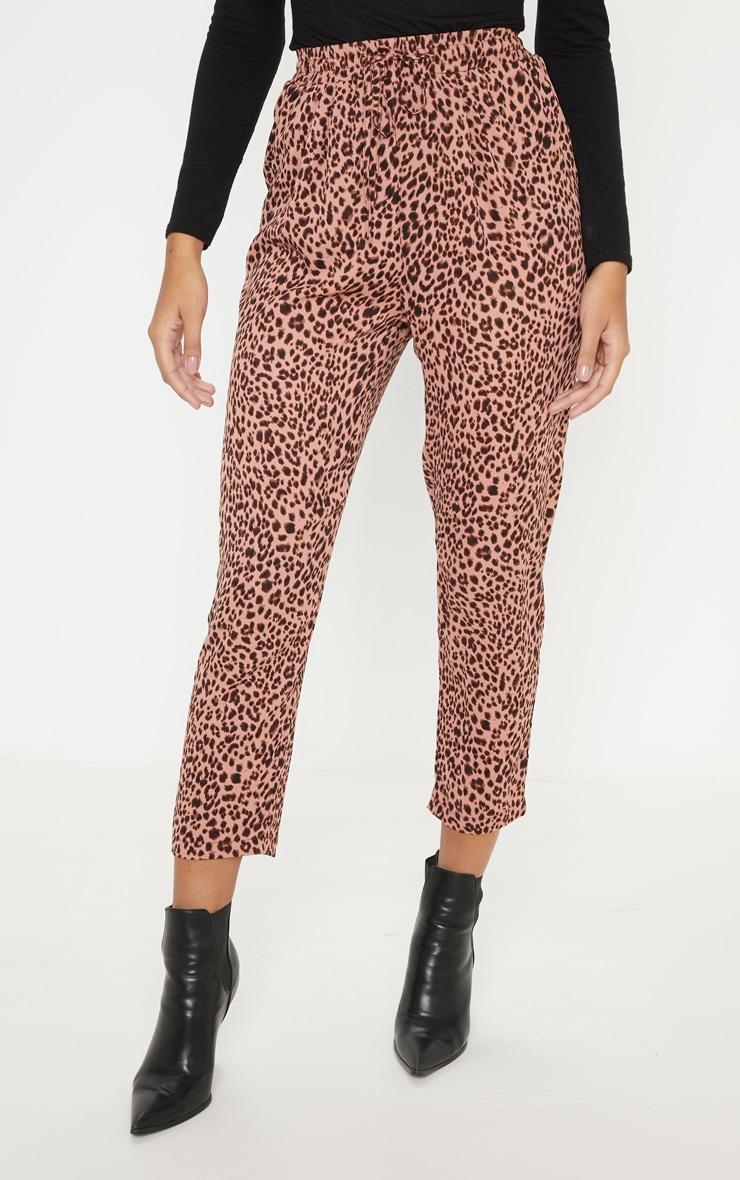 Pink Leopard Print Cigarette Jogger 2