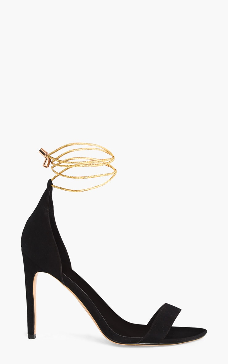 Black Knotted Strappy Heels 3