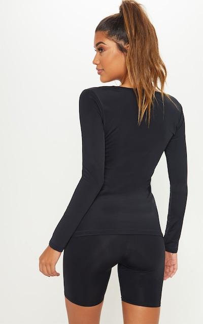 Black Basic Long Sleeve Gym Top