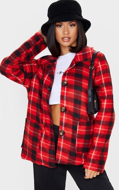 Red Check Print Jacket