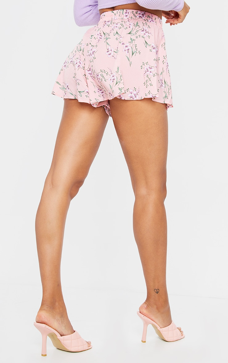 Pink Ditsy Floral Floaty Short 3