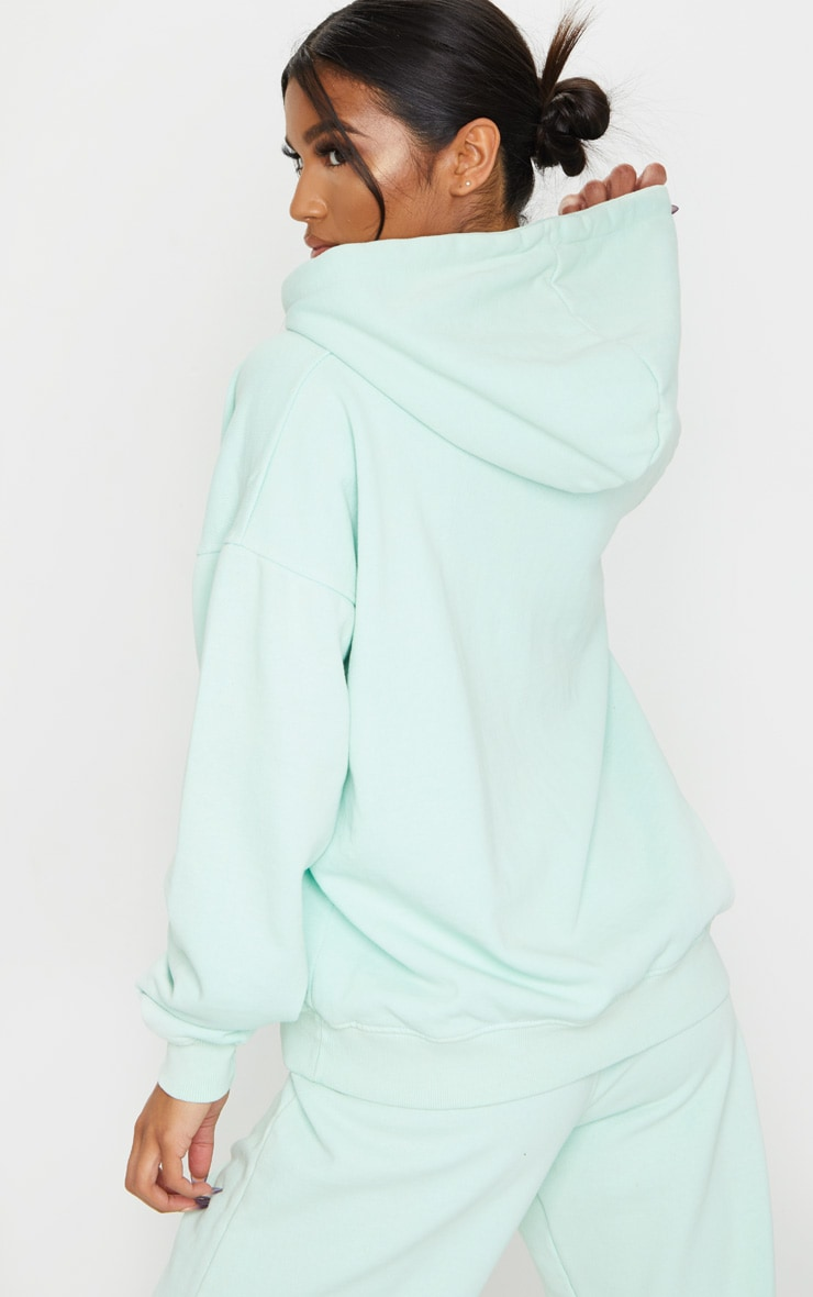 Mint Washed Oversized Hoodie 2