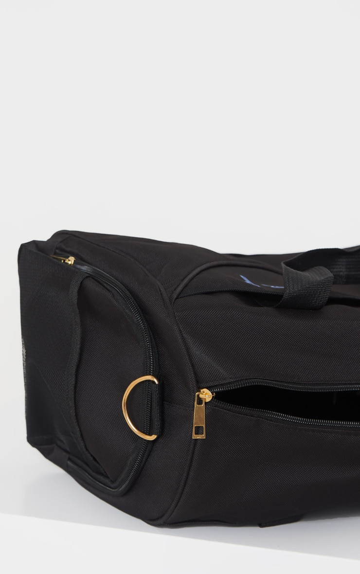 PRETTYLITTLETHING Black Sport Duffle Bag 5