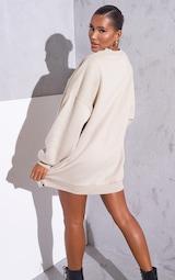 RENEW Beige Oversized Sweater Dress 2