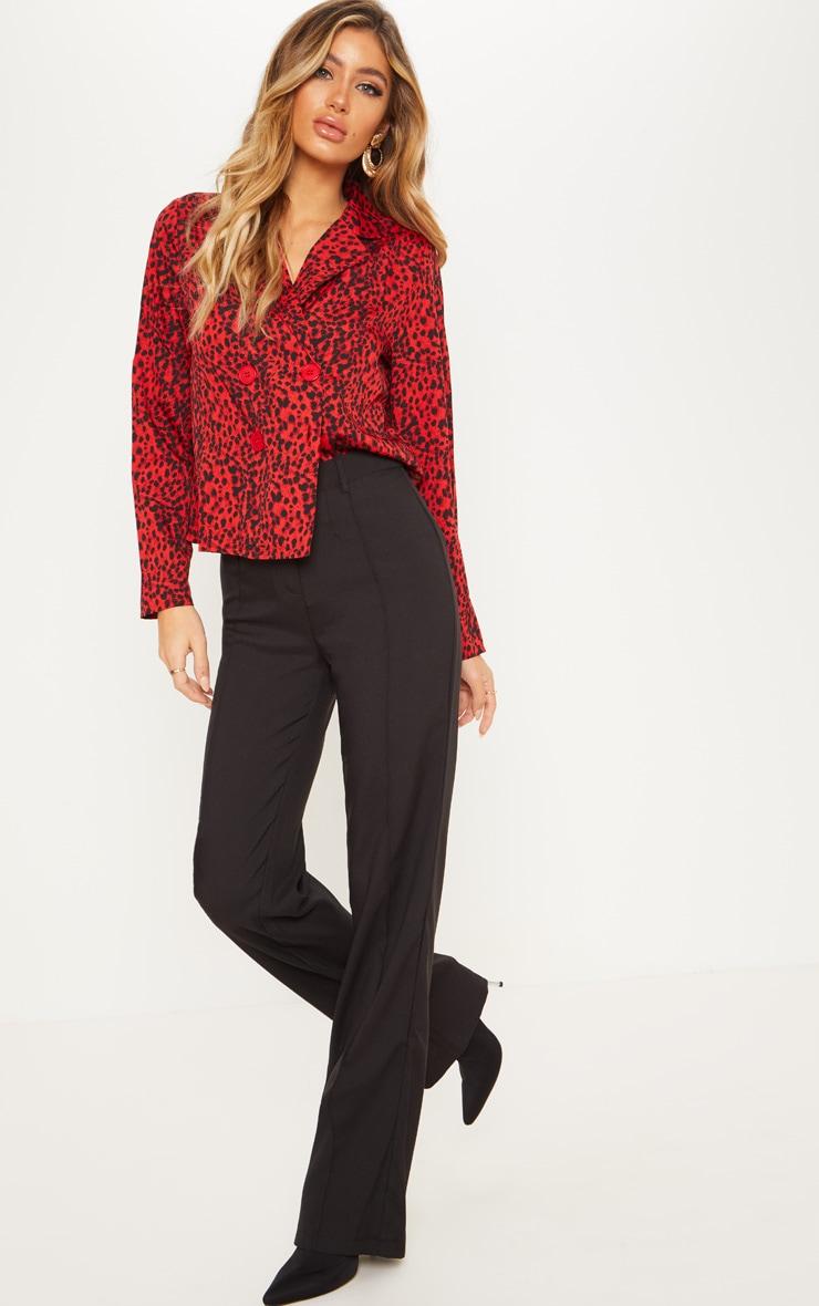 Red Leopard Button Shirt 4