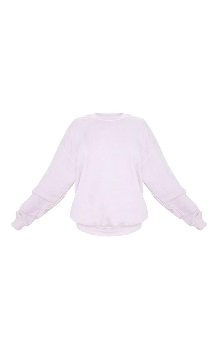 Blush Washed Oversized Sweater 5