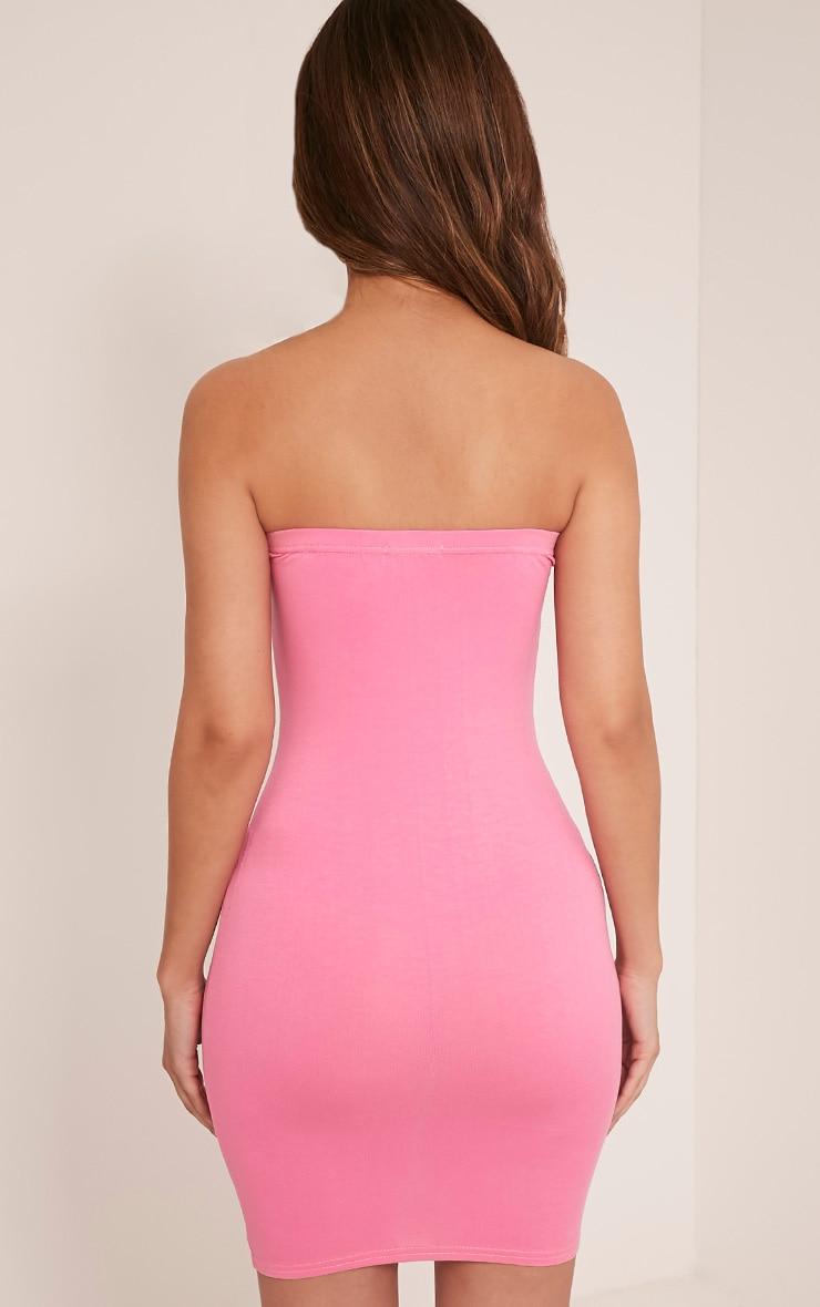 Lorrie Bubblegum Pink Bandeau Bodycon Dress 2