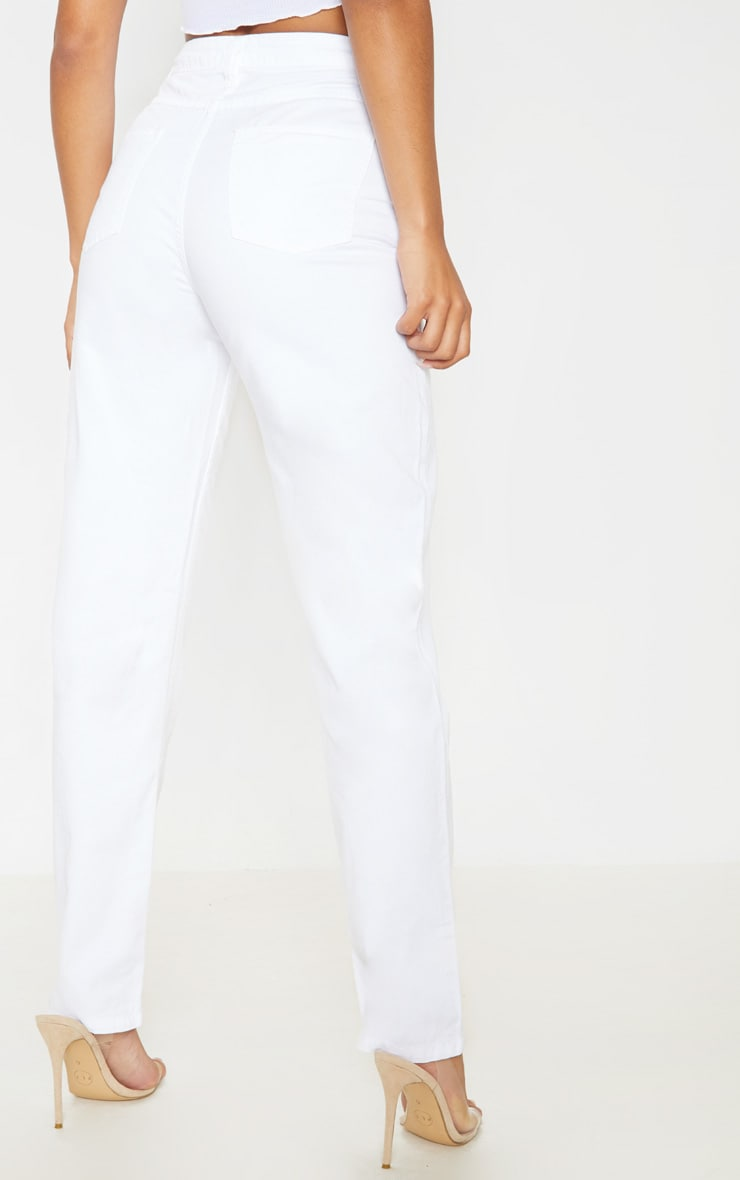 White High Waist Mom Jeans 4