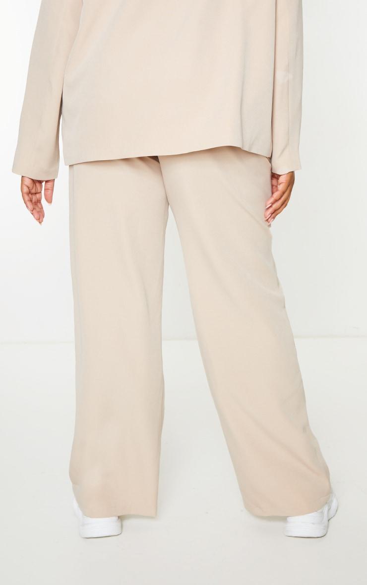 Plus Stone Stripe Detail Draw String Wide Leg Trousers 3