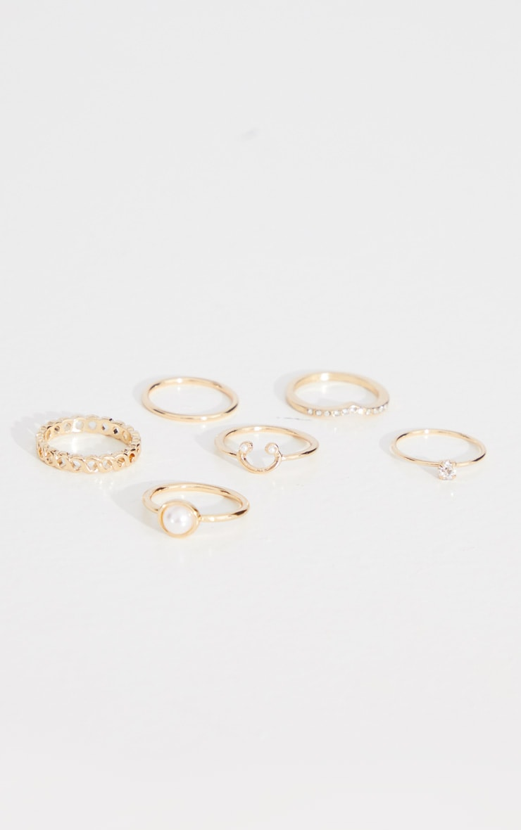 Gold Multi Assorted Ring Pack 2