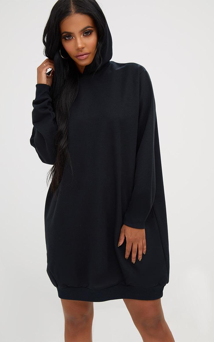 Shape Black Girls Slogan Hooded Sweater Dress 2