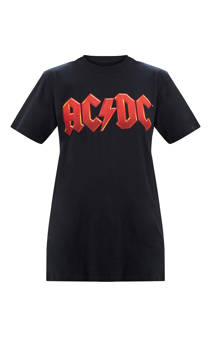 Black ACDC Slashed Back T Shirt 3