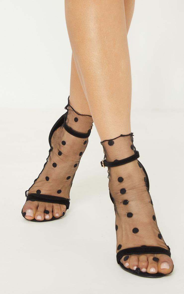 Black Polka Dot Socks  2