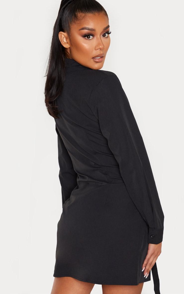 Black Hook & Eye Suspender Corset Detail Shirt Dress 2