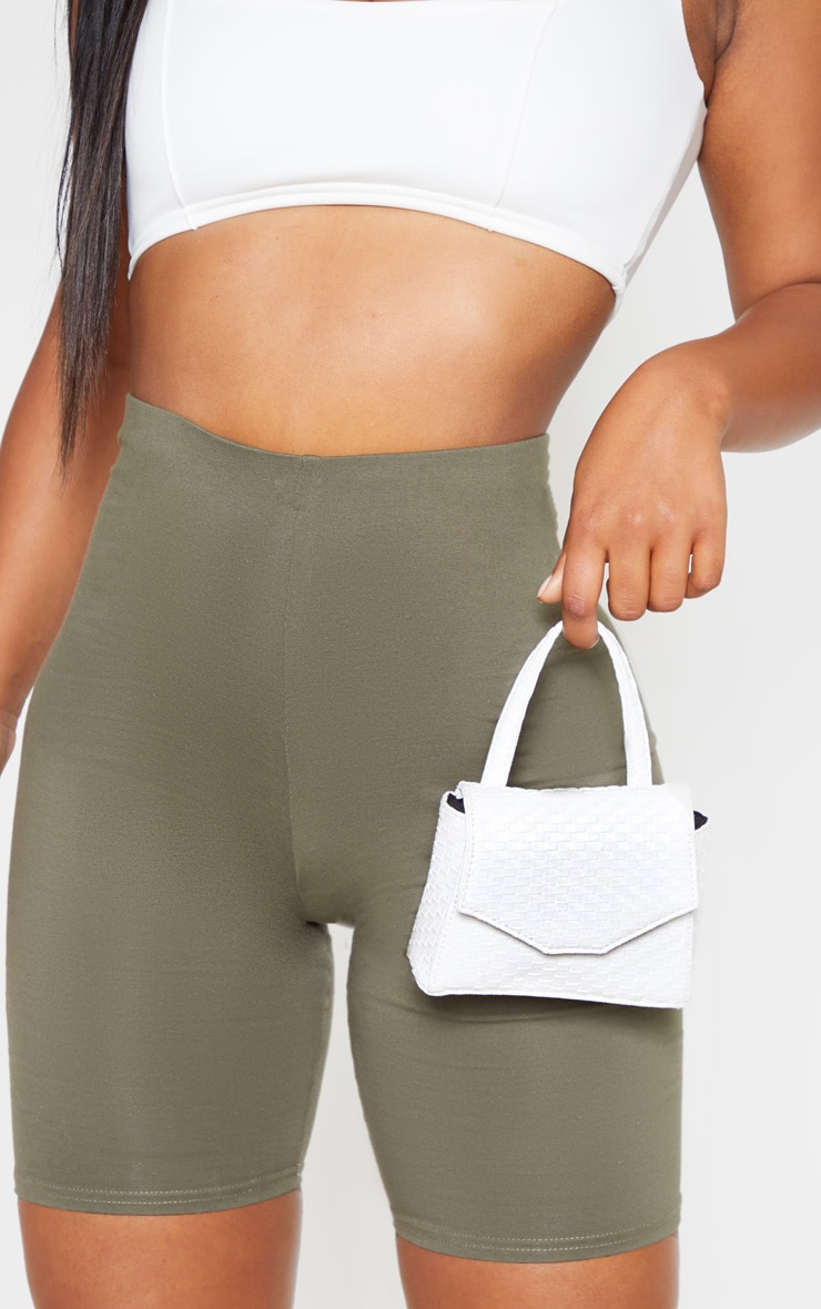 White Woven Effect PU Detail Multi Wear Belt Bag        1