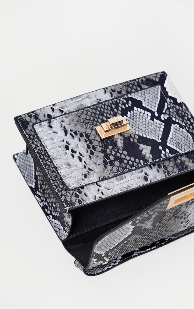 Grey Snake Cross Body Bag 4