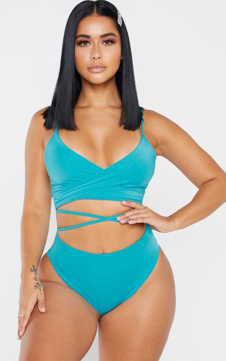 Shape Aqua High Waist High Leg Bikini Bottom 5