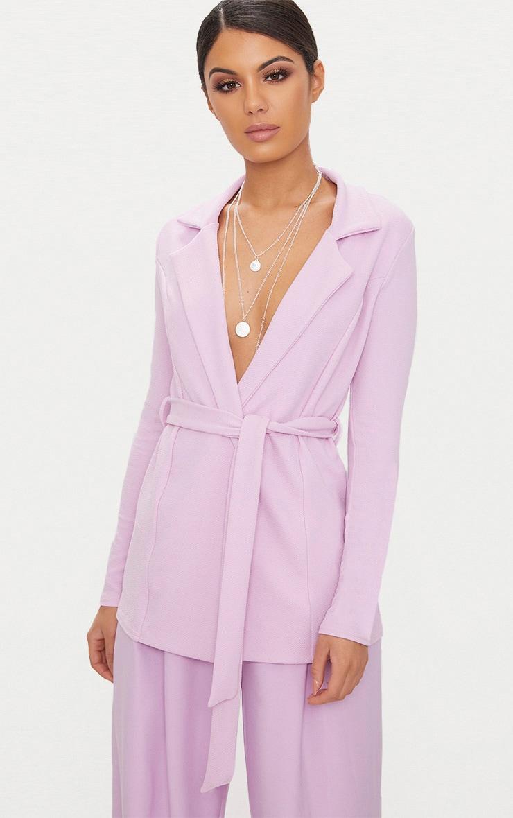 Lilac Belted Blazer 1