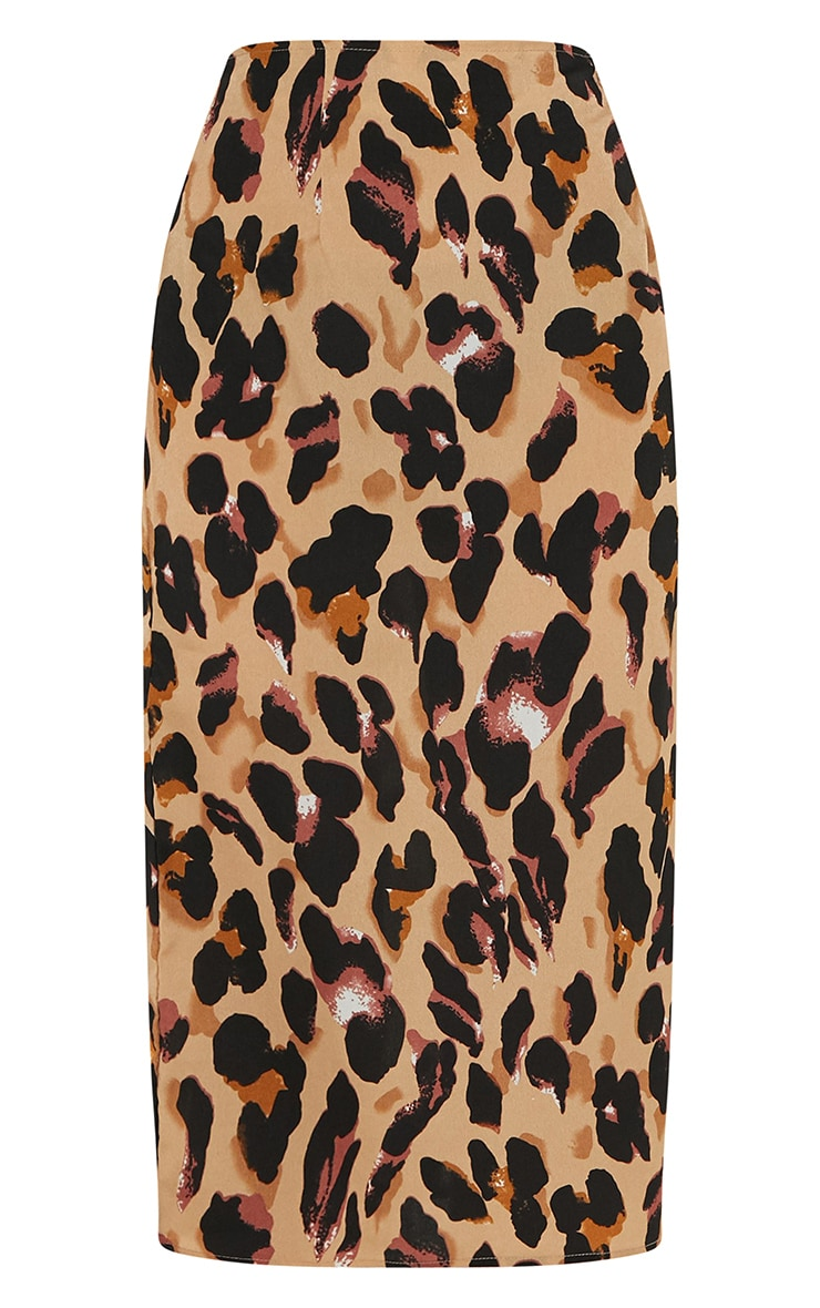 Jupe mi-longue à imprimé léopard 3