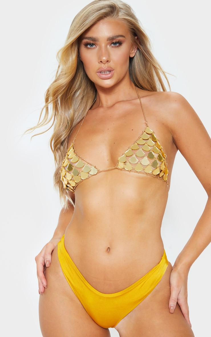 Gold Metallic Scale Bralet 1
