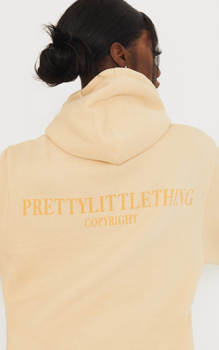 PRETTYLITTLETHING Tall Stone Copyright Hoodie 4