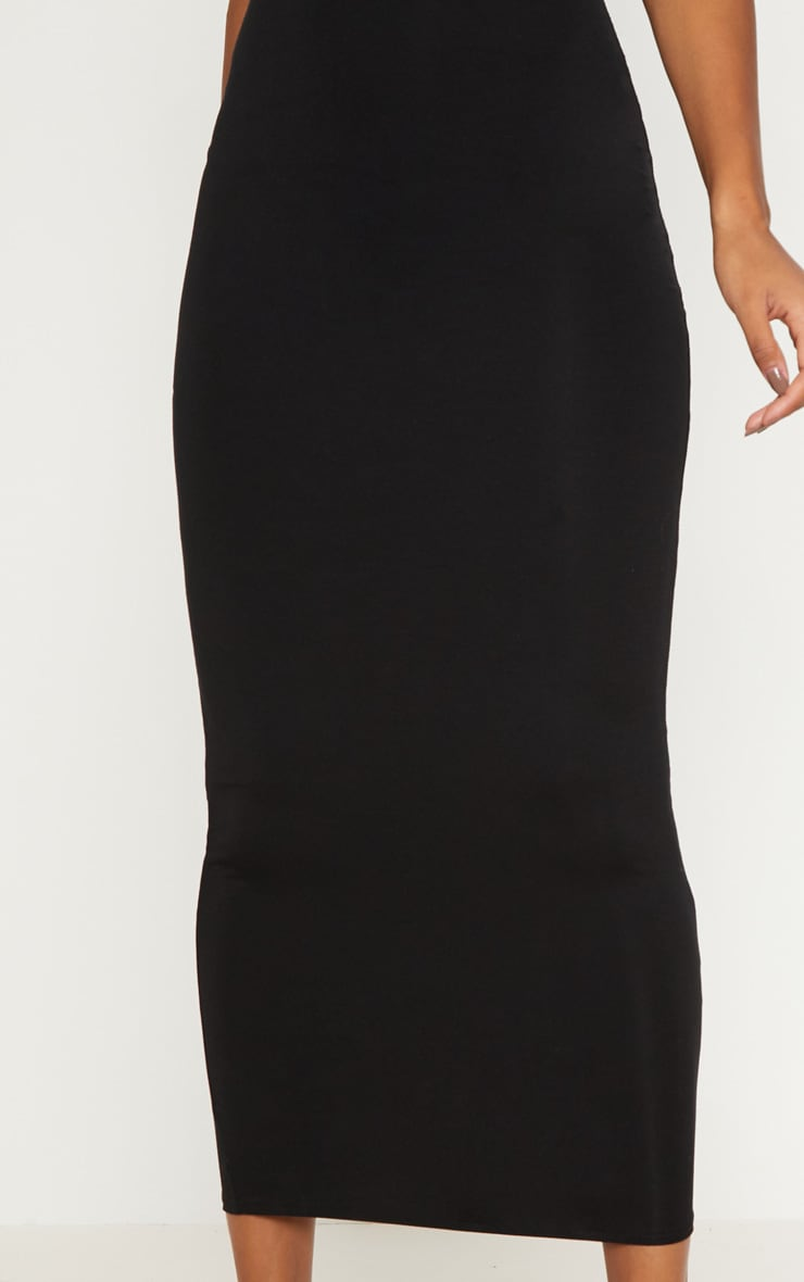 Black Basic Maxi Skirt 5