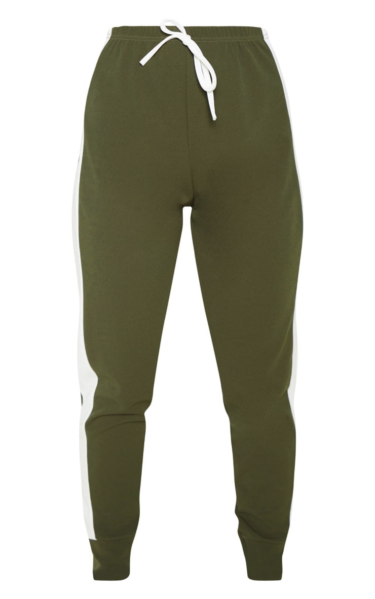Khaki Side Stripe Detail Jogger 3