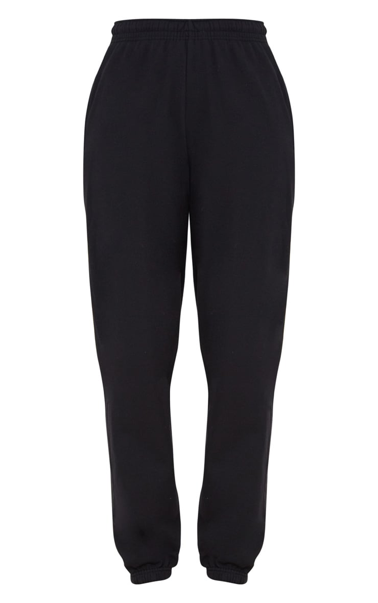 Black Casual High Waisted Jogger 3