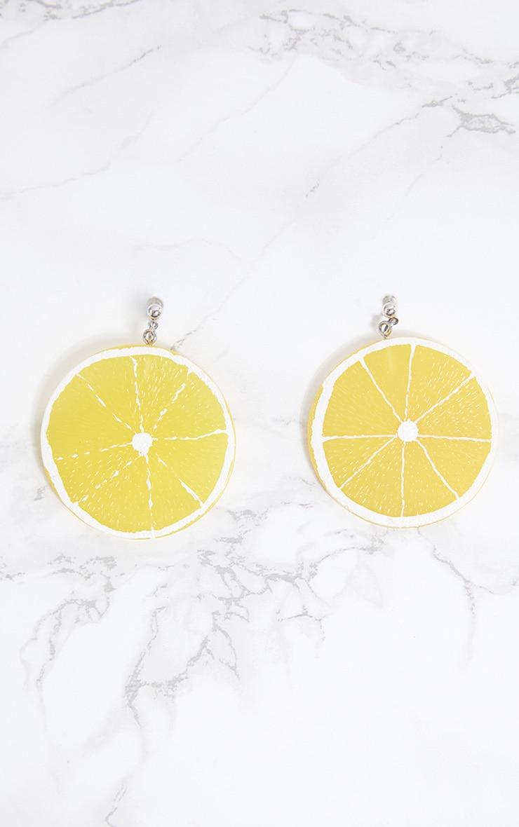 Yellow Lemon Slice Earrings 4