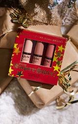 NYX Professional Makeup Gimme Super Stars! Butter Gloss Lip Trio Light Nude Gift Set 1