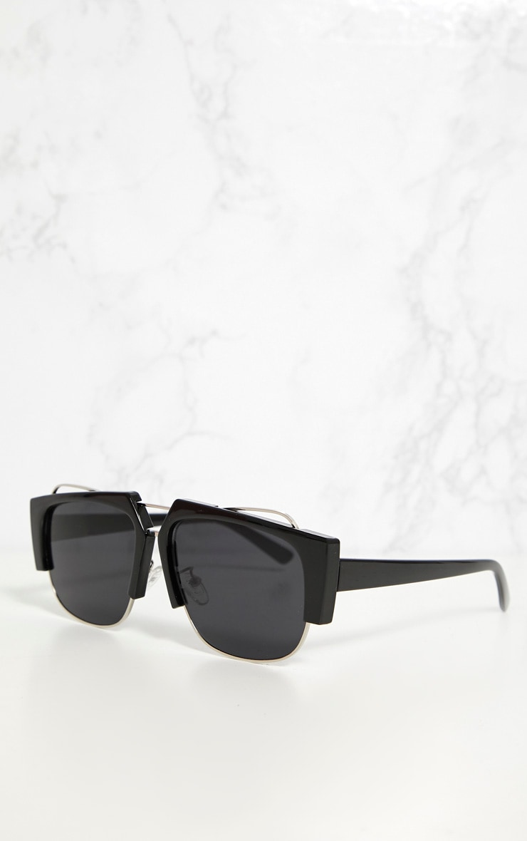 Black Slanted Sunglasses 3