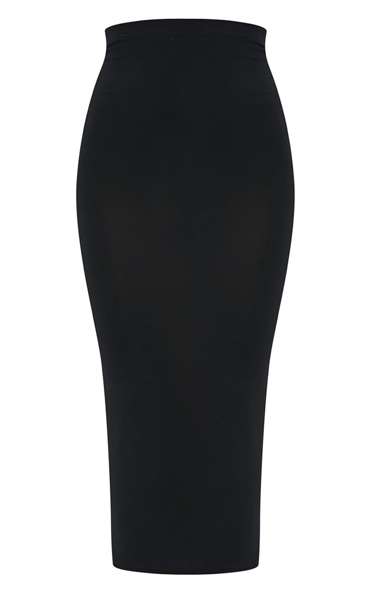Basic Black Midaxi Skirt 3