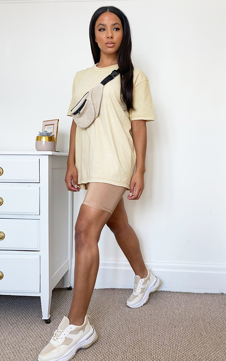 Beige Washed T Shirt 3