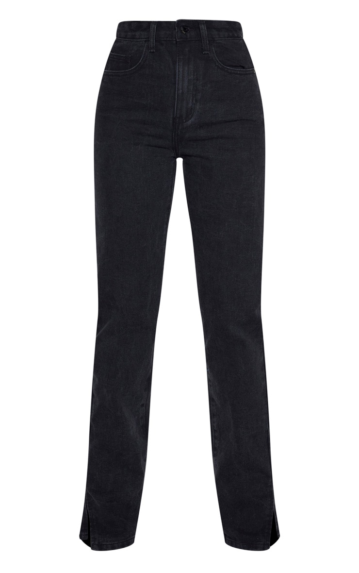 Tall Black Split Hem Jeans 3