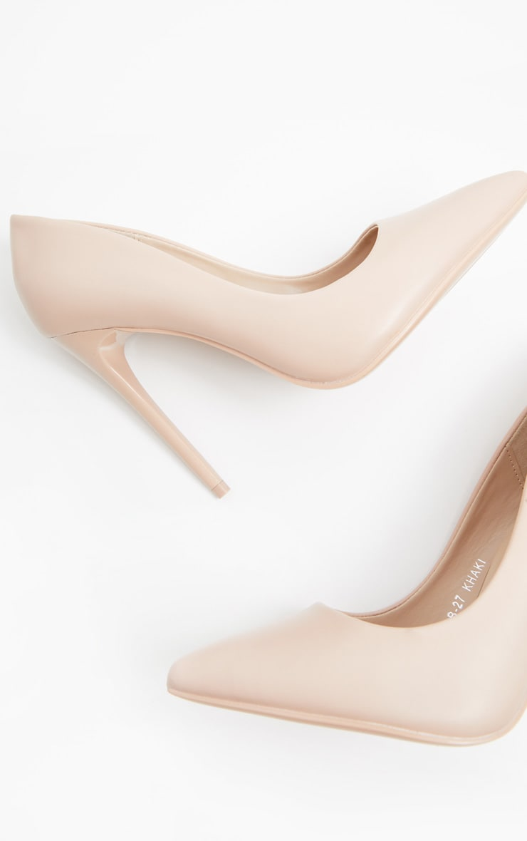 Nude Stiletto Court Shoes 3