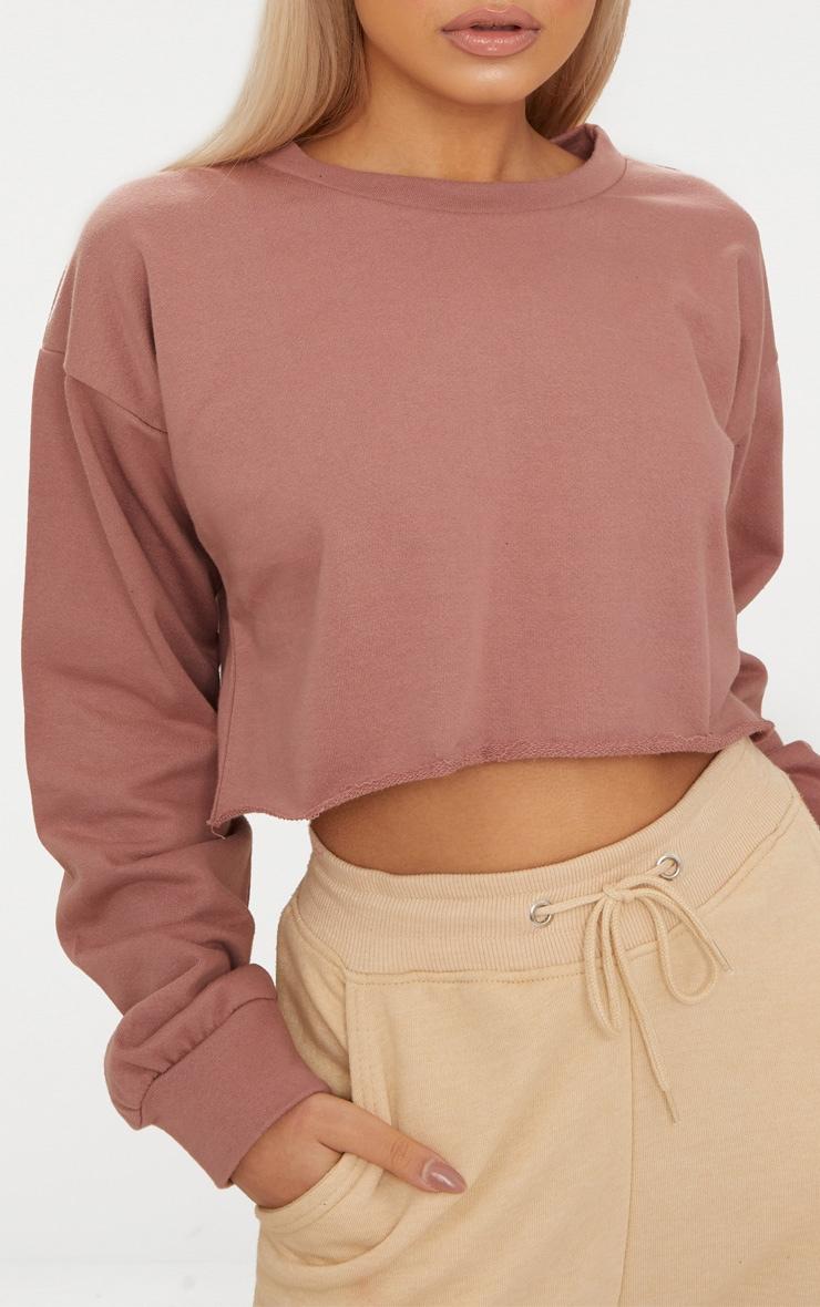 Mauve Cut Off Crop Longsleeve Sweater  5
