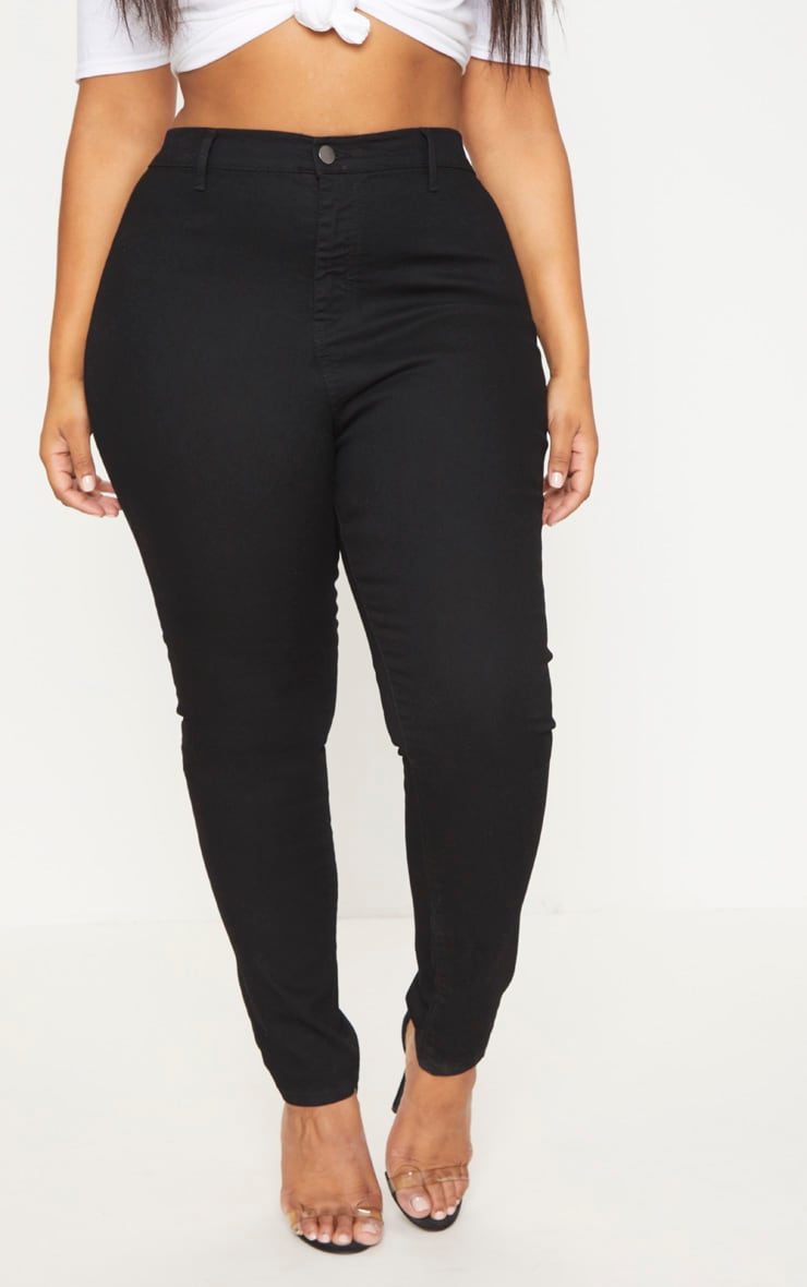 Plus Black High Waist Skinny Jeans 2