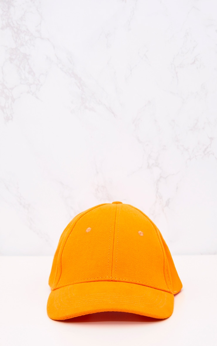 Orange Woven Baseball Cap 3