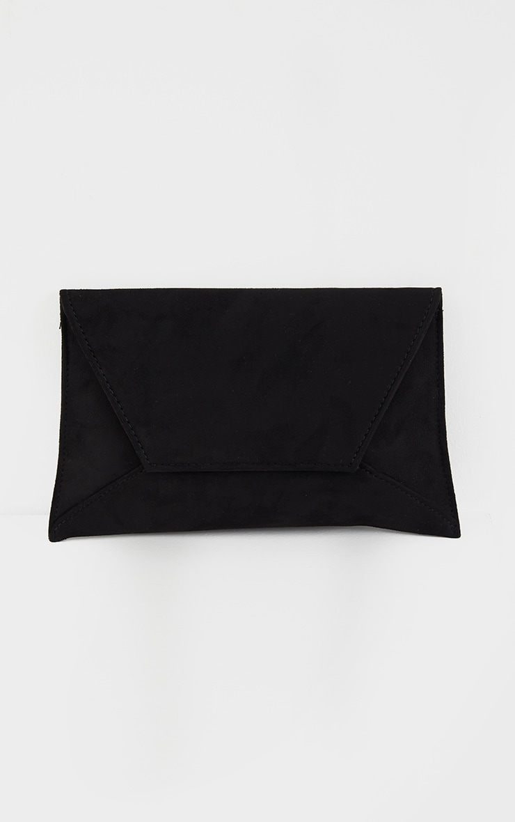 Black Envelope Clutch Bag 2