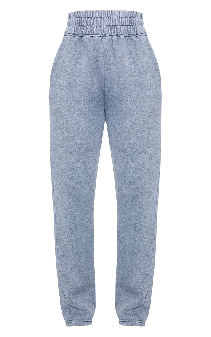 Charcoal High Waisted Washed Straight Leg Joggers 5