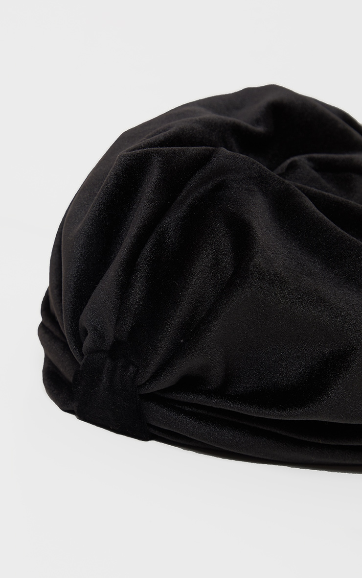 Black Velvet Knotted Turban 2