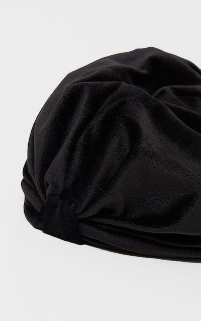 Black Velvet Knotted Turban