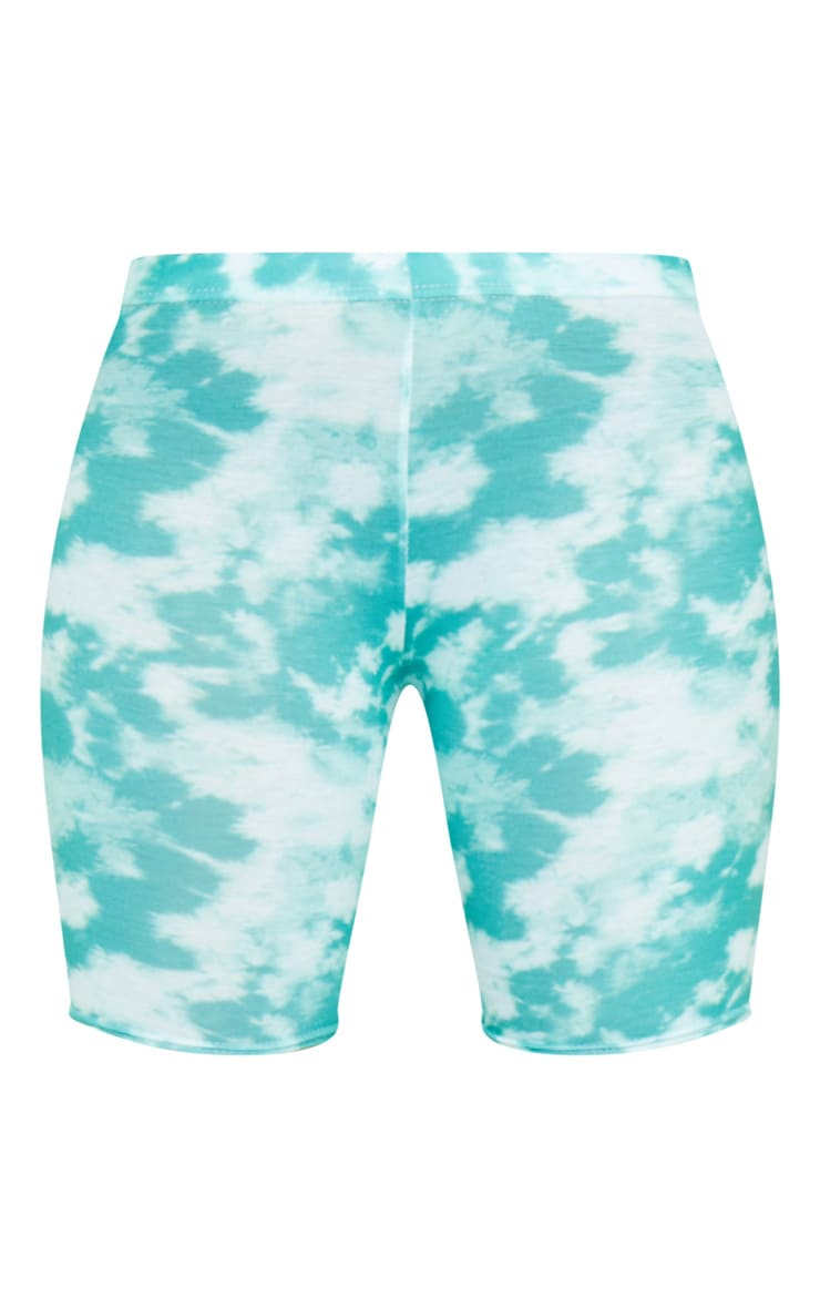 Basic Green Tie Dye Bike Shorts 6
